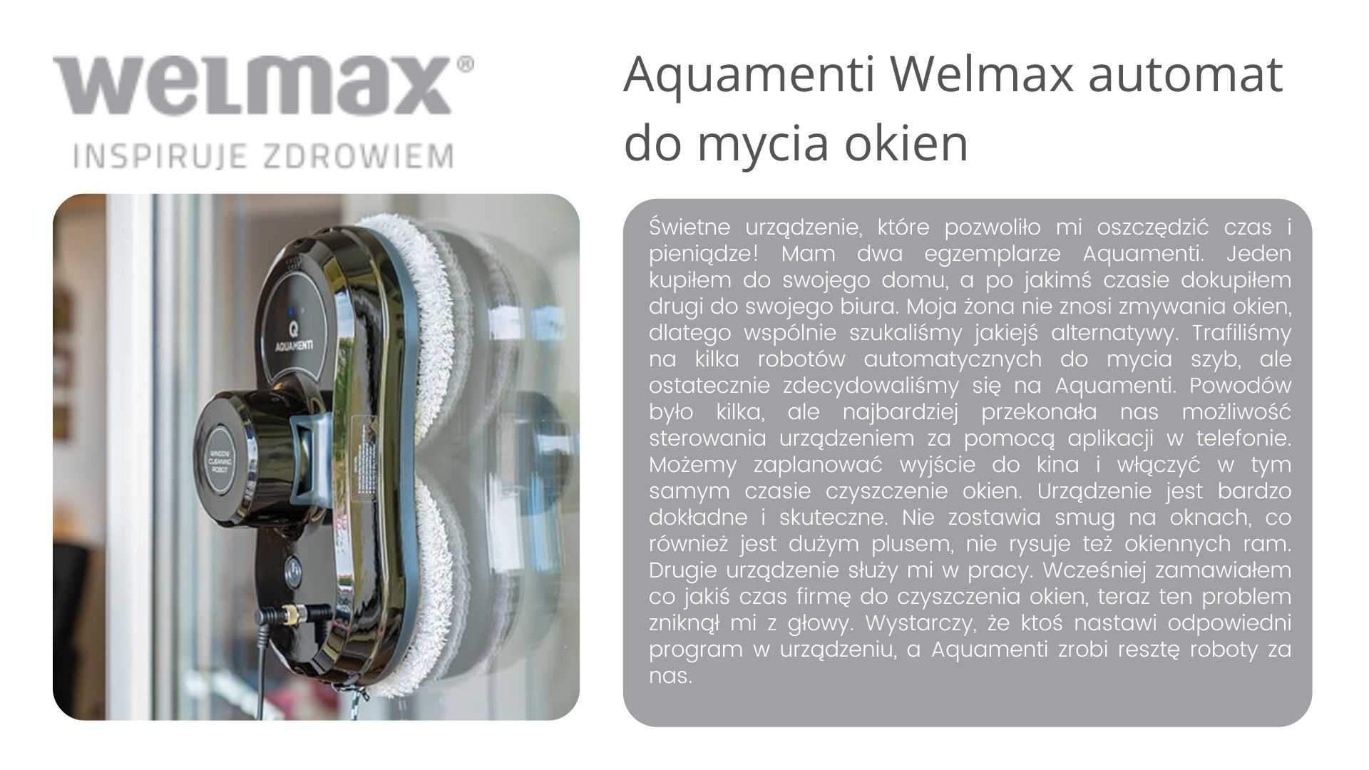 Aquamenti welmax opinie