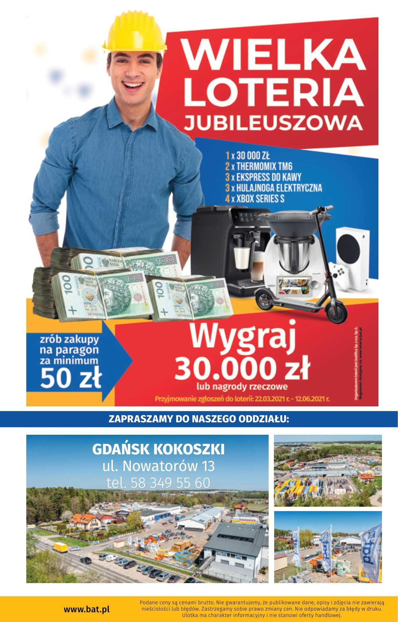 gazetka promocyjna wielkie otwarcie bat gdansk kokoszki
