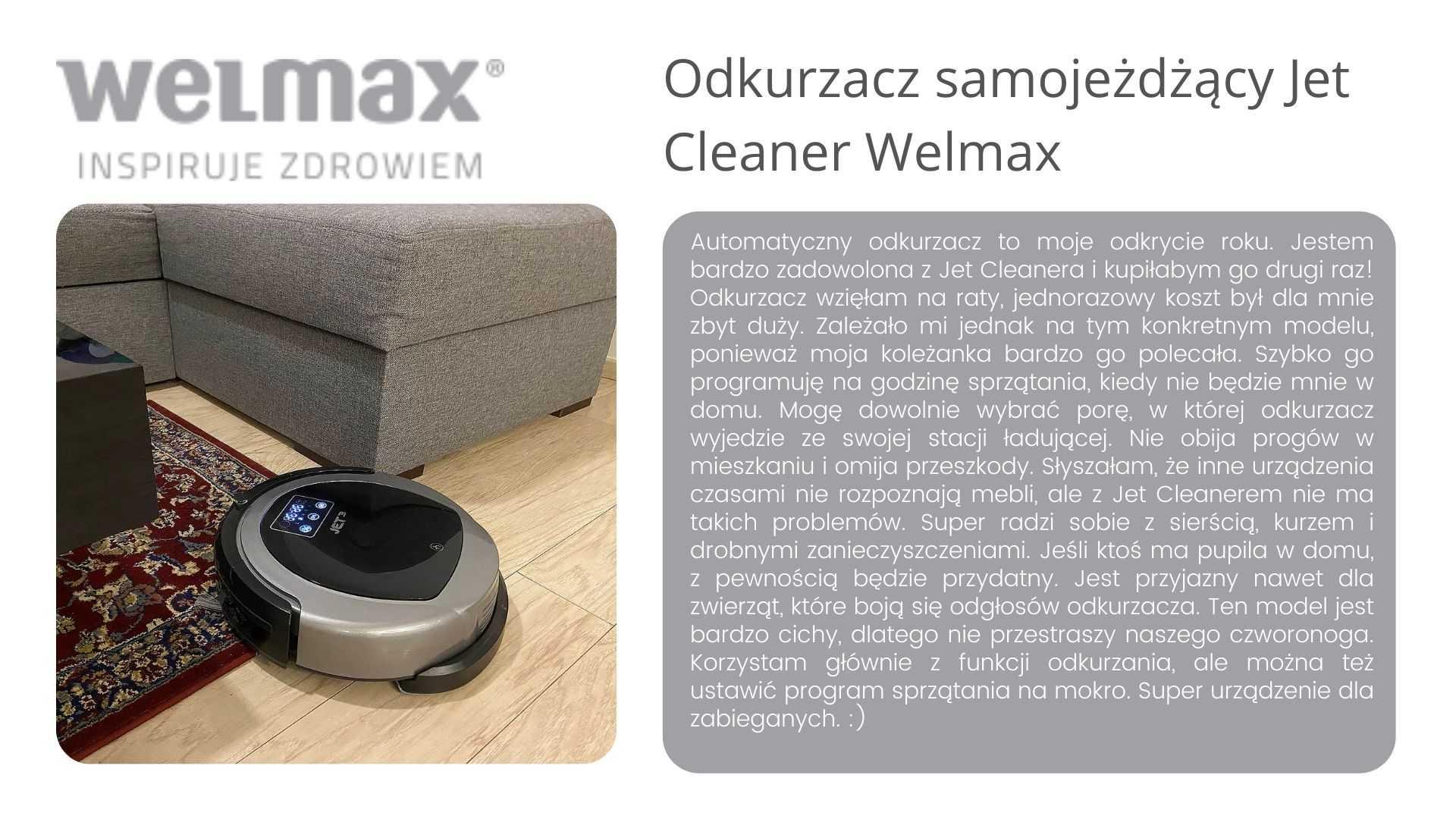 Jet Cleaner odkurzacz samojezdny Welmax opinie