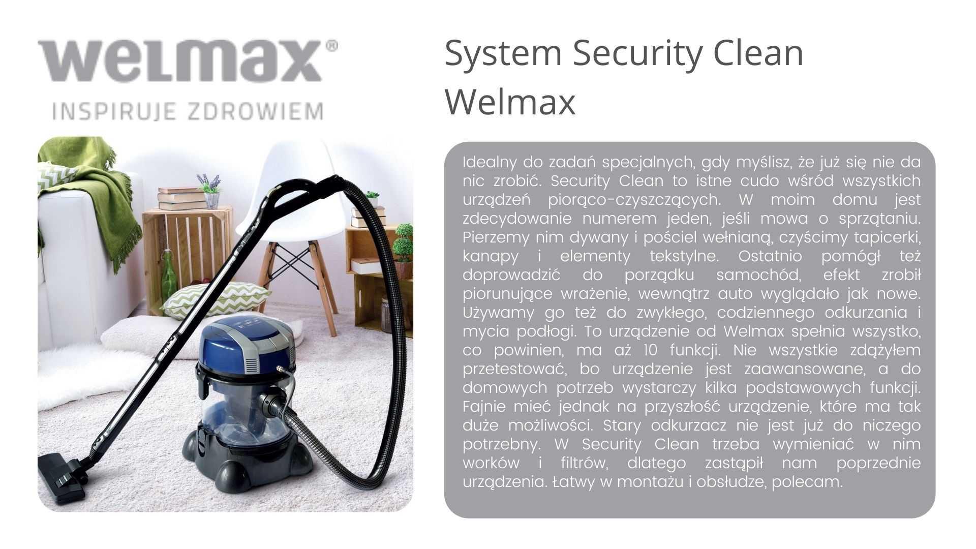 Seciurity Clean opinie Welmax